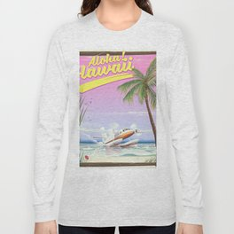 Aloha! Hawaii vintage travel poster. Long Sleeve T-shirt
