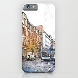 Manchester city watercolor #manchester iPhone Case
