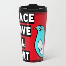 Peace Love Art Travel Mug