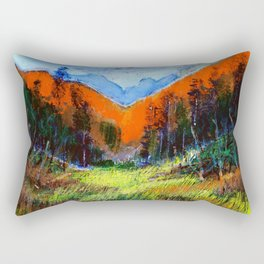 Mountain Meadow Landscape Rectangular Pillow