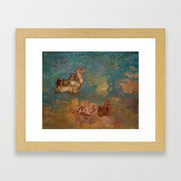 "Odilon Redon ""The Chariot of Apollo"" Framed Art Print"