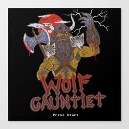 Wolf Gauntlet Canvas Print