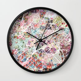 Limoges map Wall Clock