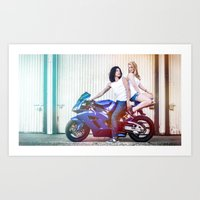 vampire diaries Art Prints featuring Motorcycle Diaries by Marcus Meisler