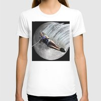 ski T-shirts featuring Moon Ski by AF Knott