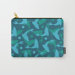 dolphins in blue Carry-All Pouch
