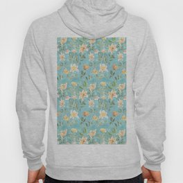 Mint Botanical Pattern Hoody