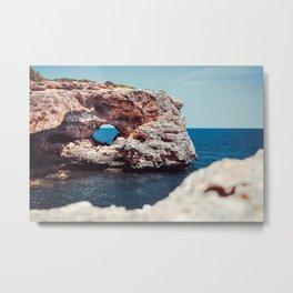 Island, Ocean, Holiday, Coast, Spain, Water, Waves, Sunshine, Surfer Metal Print
