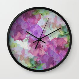 Sweet Peas Floral Abstract Wall Clock
