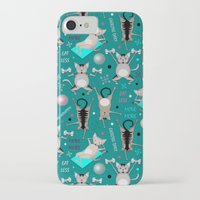 fitness iPhone & iPod Cases featuring Fitness for cats by Vannina