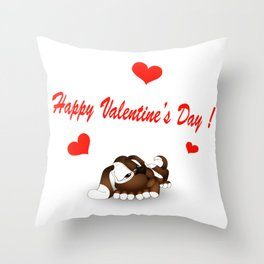 Valentine's Day 4 Throw Pillow