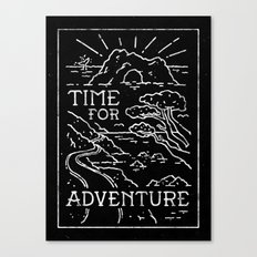 TIME FOR ADVENTURE (BW) Canvas Print