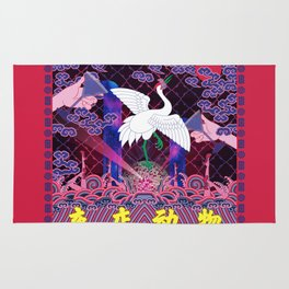 A Beast in human clothing - Chinese civil official uniform pattern -  Nightclub Animals Rug