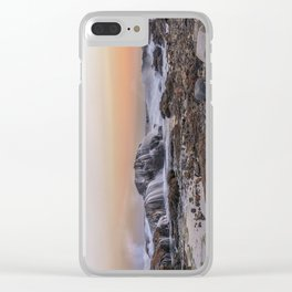 Waves on the rocks at the Backshore Clear iPhone Case