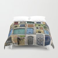 doors Duvet Covers featuring doors by Cathy Jacobs