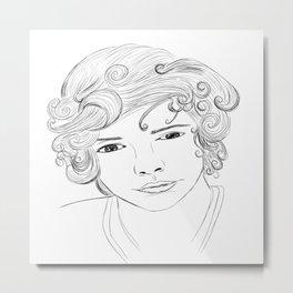 Harry Styles Cartoon Metal Print