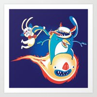 Monsteroid! Art Print