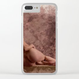 Nude woman watercolor vintage Clear iPhone Case