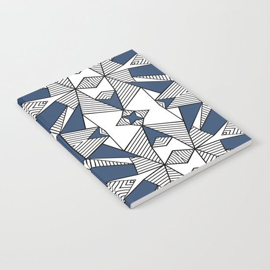 Triangle Tribal #2 Navy Notebook