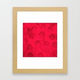 Festive Red Spirals Framed Art Print