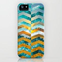 Golden Lapas -Wide Chevrons iPhone Case