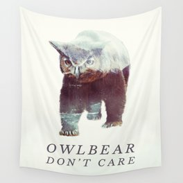 Owlbear (Typography) Wall Tapestry