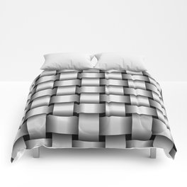 Large Pale Gray Weave Comforters
