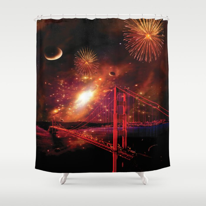 Left My Heart in San Francisco Shower Curtain
