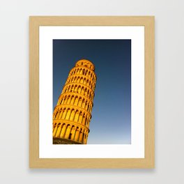 It Leans Framed Art Print