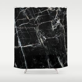 Black Marble Edition 1 Shower Curtain