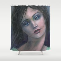 dreamer Shower Curtains featuring Dreamer by Marianne Goodell Art