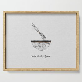 Whip It Good, Music Quote Serving Tray