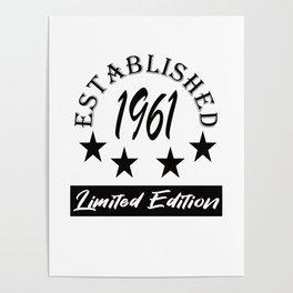Established 1961 Limited Edition Design Poster