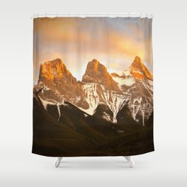 Three Sisters - Golden Peaks Shower Curtain