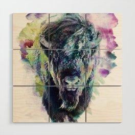 Bison Wood Wall Art