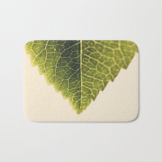 green leaf abstract Bath Mat