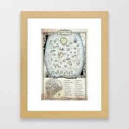 Hope and Red map Framed Art Print