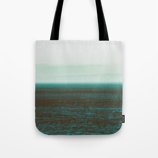 Sea front green Tote Bag