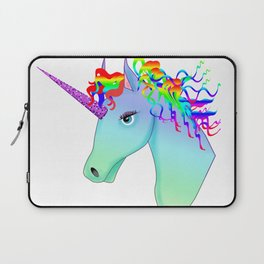 colorful head of unicorn Laptop Sleeve