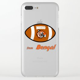 True Bengal American Football Design black lettering Clear iPhone Case