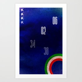 Italy World Cup Art Print