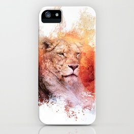 Expressions Lioness iPhone Case