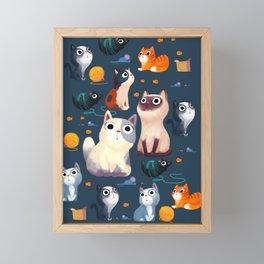 Cat Print Framed Mini Art Print