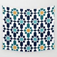 islam Wall Tapestries featuring Marrakesh by Patterns and Textures
