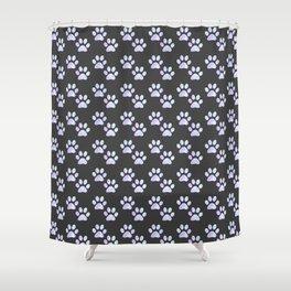 Pastel Paw Prints Shower Curtain