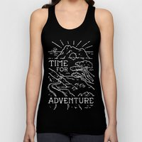 TIME FOR ADVENTURE (BW) Unisex Tank Top
