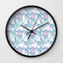 Branches of Rose Buds Pattern Wall Clock