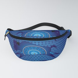 Buffalo Running (Blue) Fanny Pack