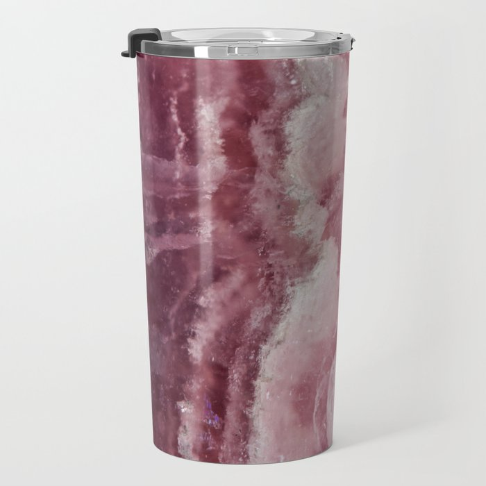 Rosey Rose Quartz Crystal Travel Mug