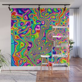 Warped Rainbow Wall Mural